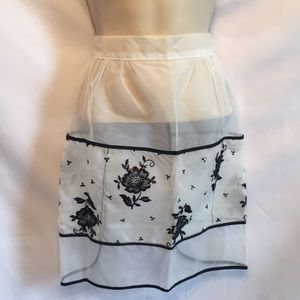 Vintage shear Apron with floral print. Beautiful
